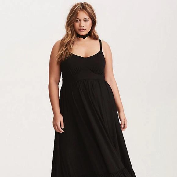 82dc1dc7523 Torrid Dresses | Style Staple Tiered Black Jersey Maxi Dress | Poshmark